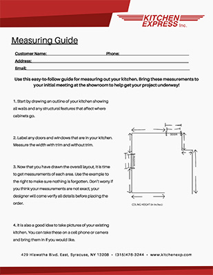 Kitchen Express Measuring Guide