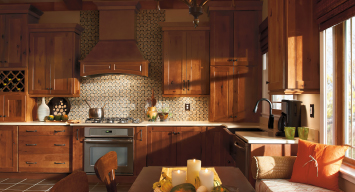 Kitchen Express Dark Wood Kitchen Cabinets