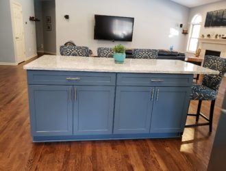 Showplace Painted & Hickory Cabinets