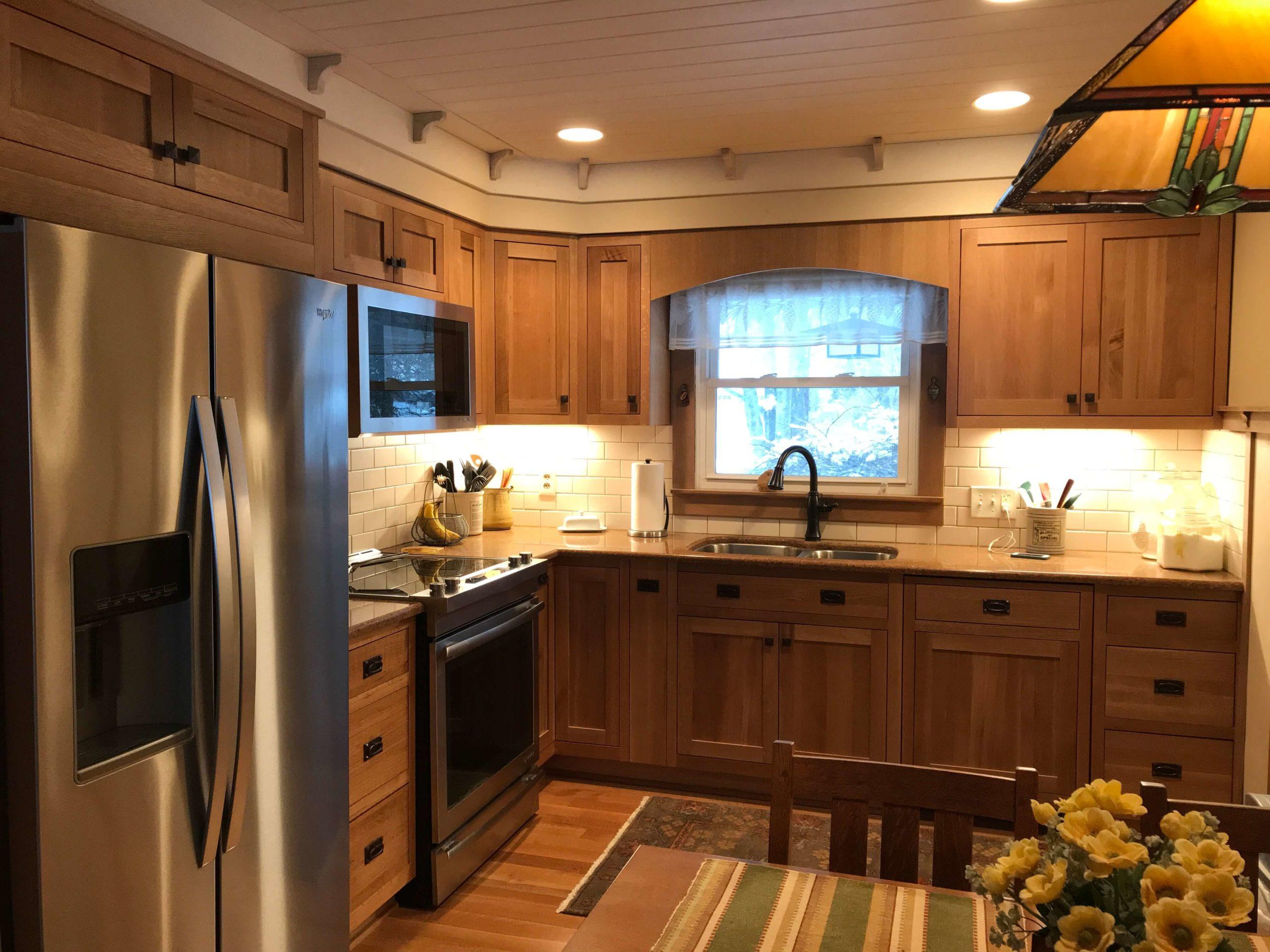Quartersawn Oak Red Birch Cabinets Gallery Kitchen Express