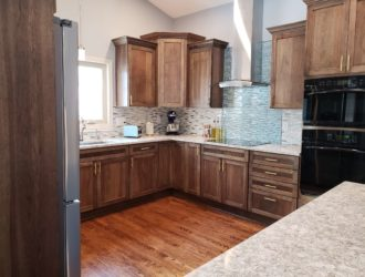 Showplace Hickory & Painted Kitchen Cabinets