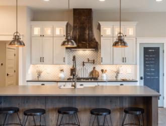 Painted and Ru Alder Kitchen Cabinets