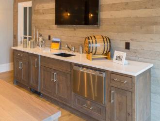 Showplace Painted & Ru Alder Bar Cabinets