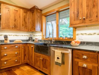 Candlelight Hickory Kitchen Cabinets