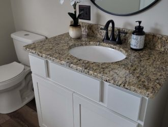White Painted Cabinet Vanity